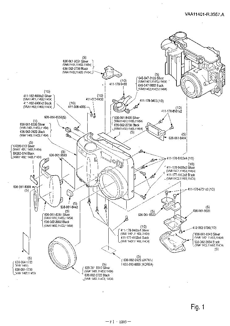 NIKON COOLPIX 885 PARTS Service Manual download
