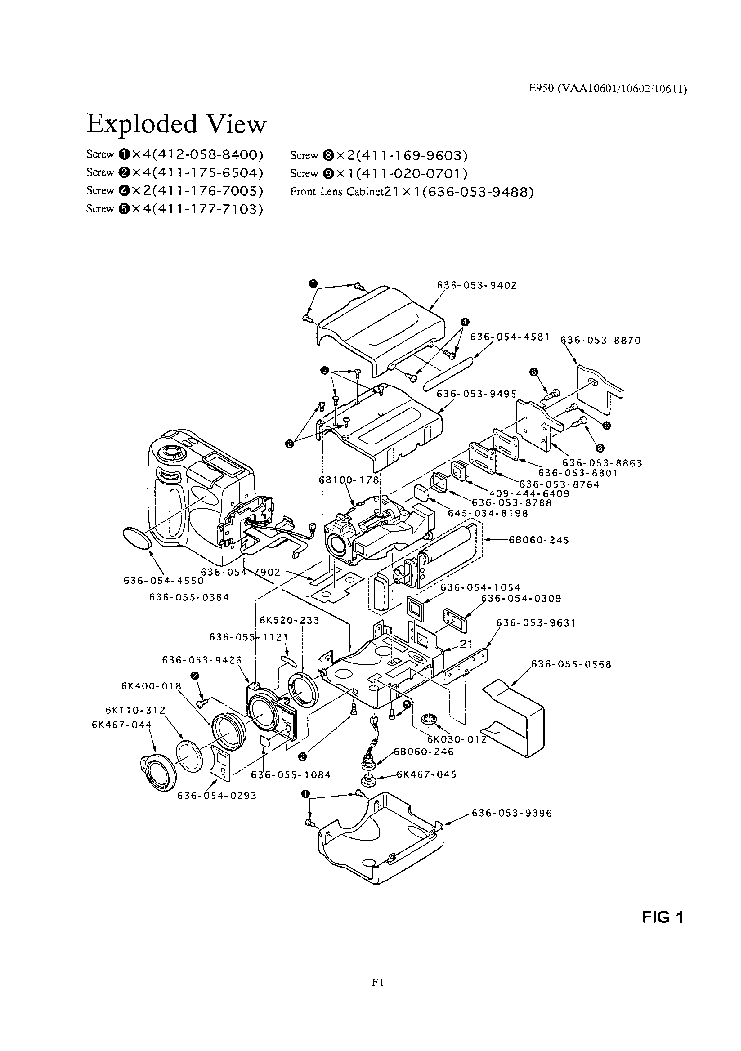 NIKON COOLPIX 950 PARTS Service Manual download