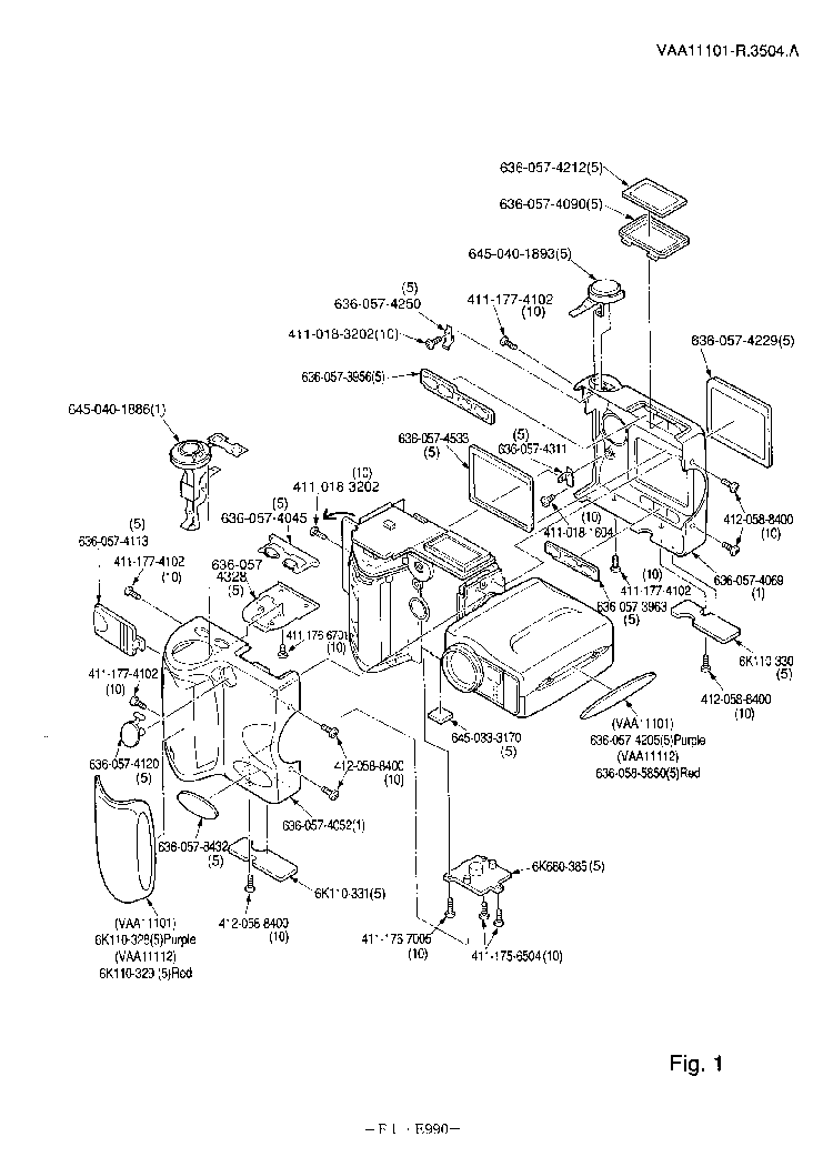 NIKON COOLPIX 990 PARTS Service Manual download