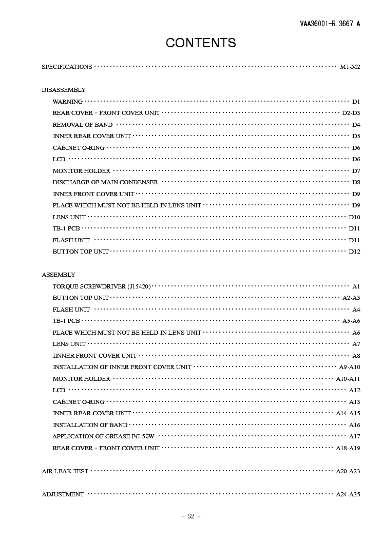 NIKON COOLPIX S2 REPAIR MANUAL Service Manual download. schematics. eeprom. repair info for electronics experts