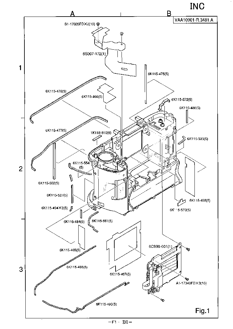 NIKON D1 PARTS LIST Service Manual download, schematics