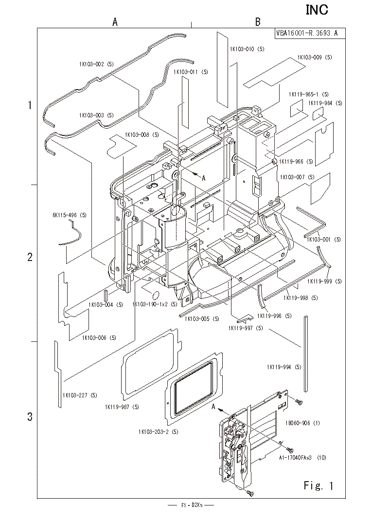 NIKON D2XS PARTS LIST Service Manual download, schematics