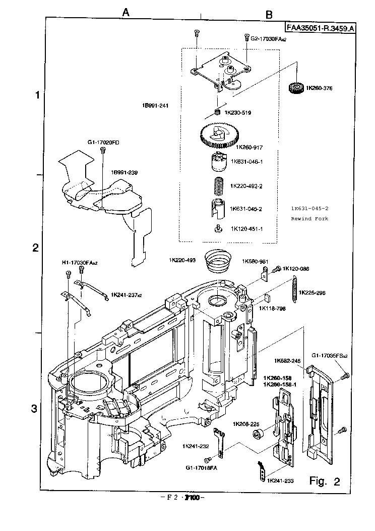 NIKON F100 PARTS Service Manual download, schematics