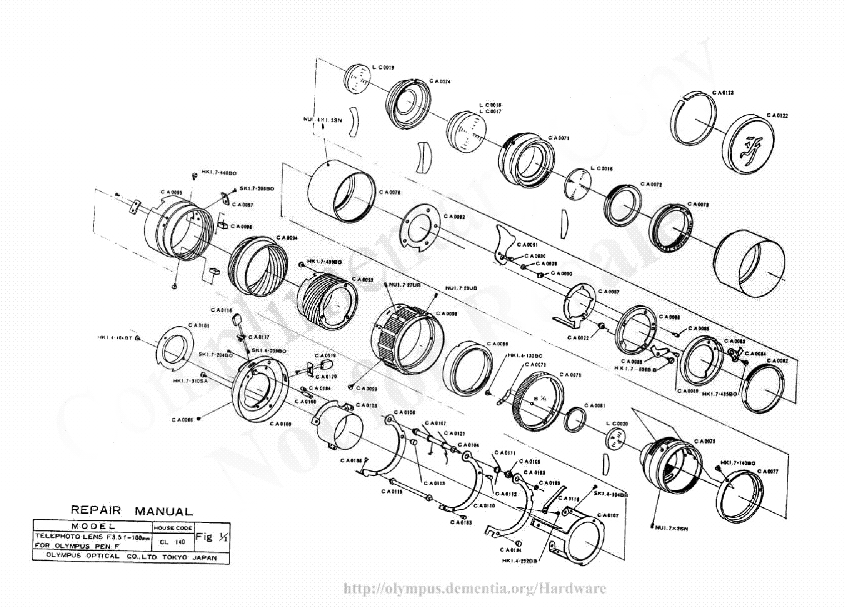 OLYMPUS E-10 Service Manual free download, schematics