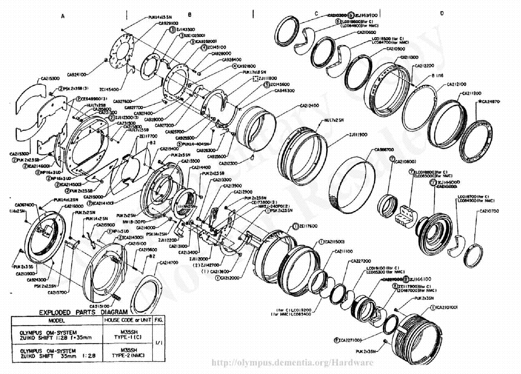 hight resolution of olympus 35mm f2 8 shift exploded parts diagram service manual 2nd page