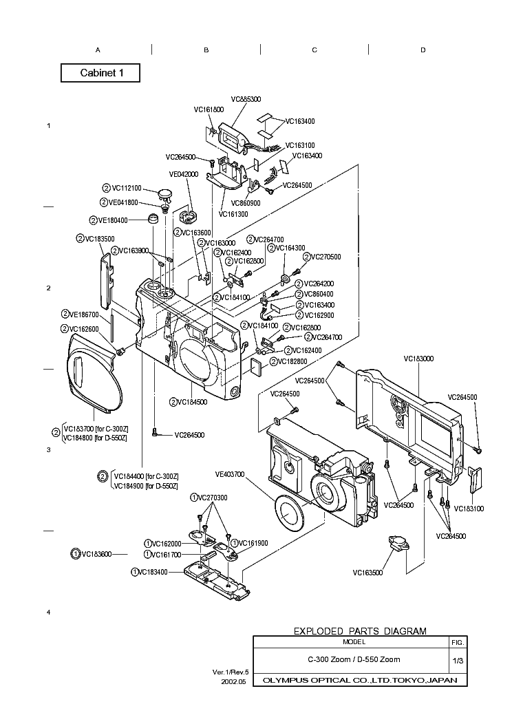 OLYMPUS C-300ZOOM D-550ZOOM Service Manual download