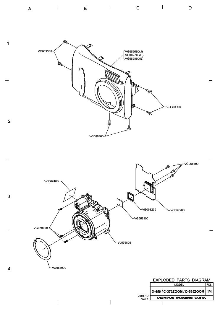OLYMPUS C-370 D-535 X-450 Service Manual download