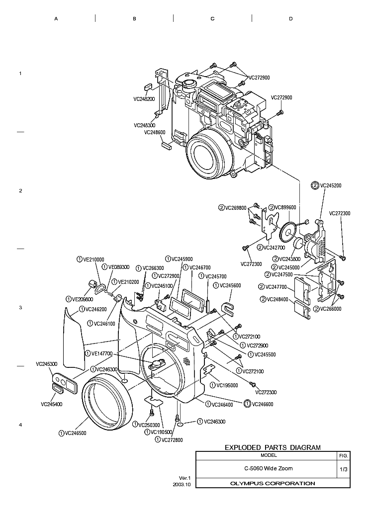 OLYMPUS C-5060WIDEZOOM Service Manual download, schematics