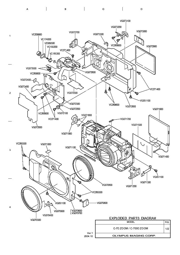 OLYMPUS OM-30 EXPLODED PARTS DIAGRAM Service Manual free
