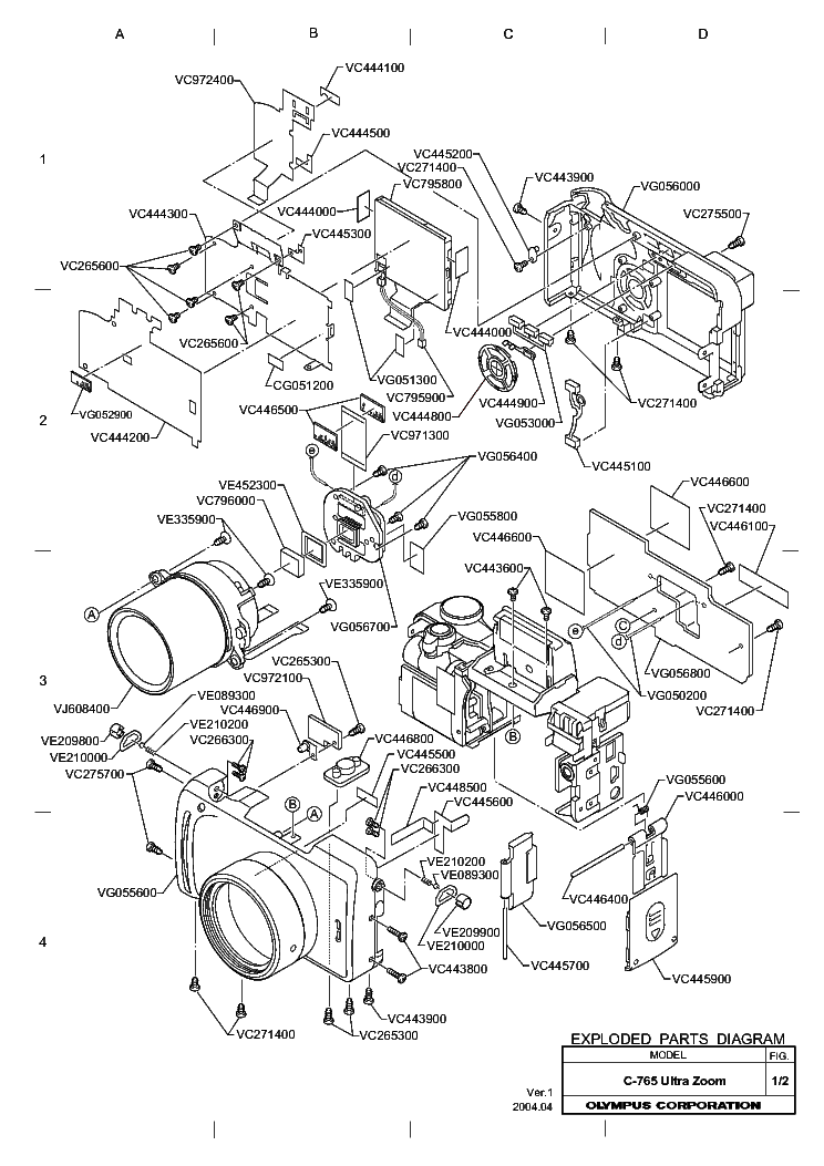 OLYMPUS C-765ULTRAZOOM Service Manual download, schematics
