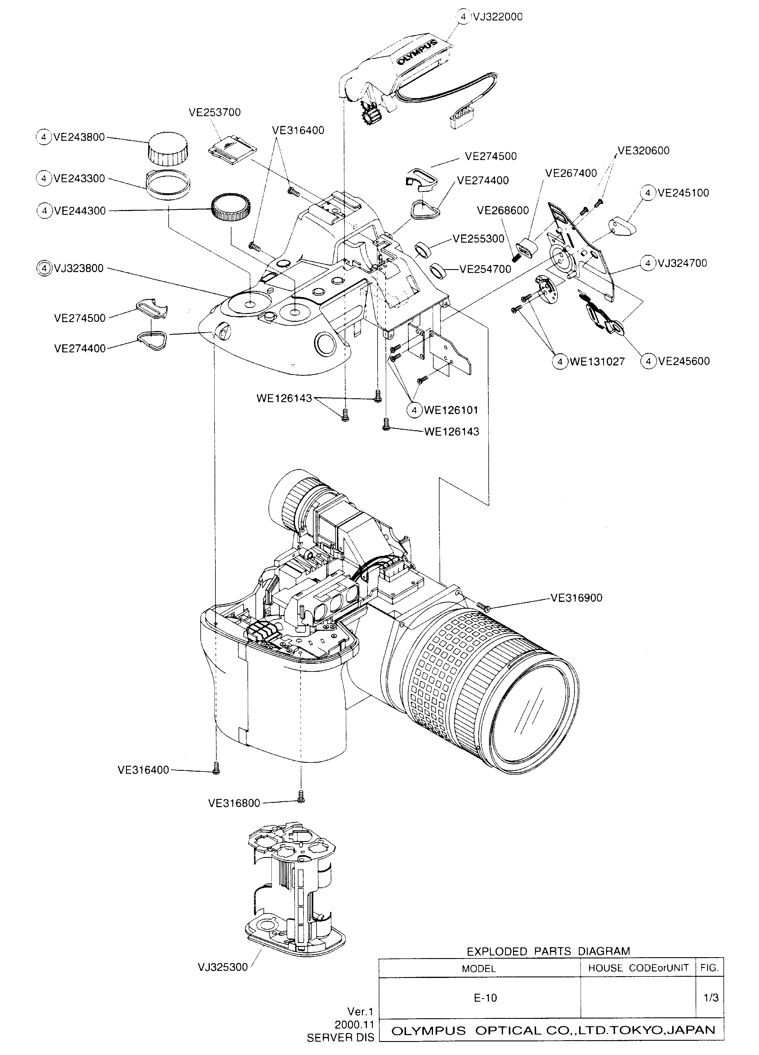OLYMPUS E-10 Service Manual download, schematics, eeprom