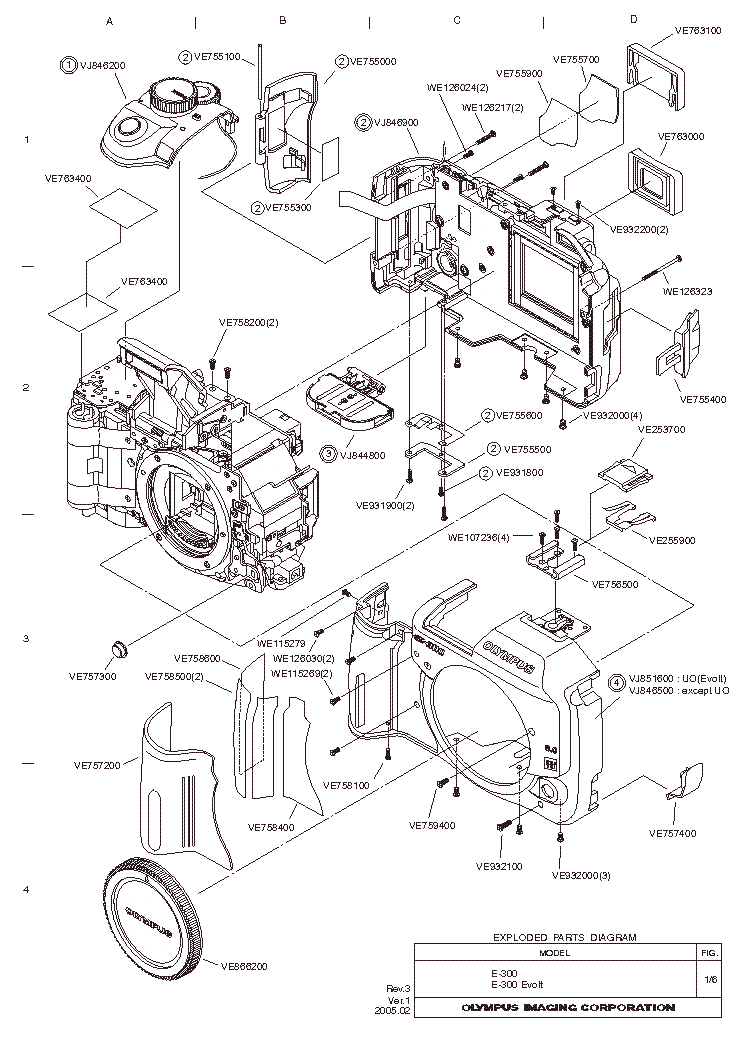 OLYMPUS E-300 PL Service Manual download, schematics