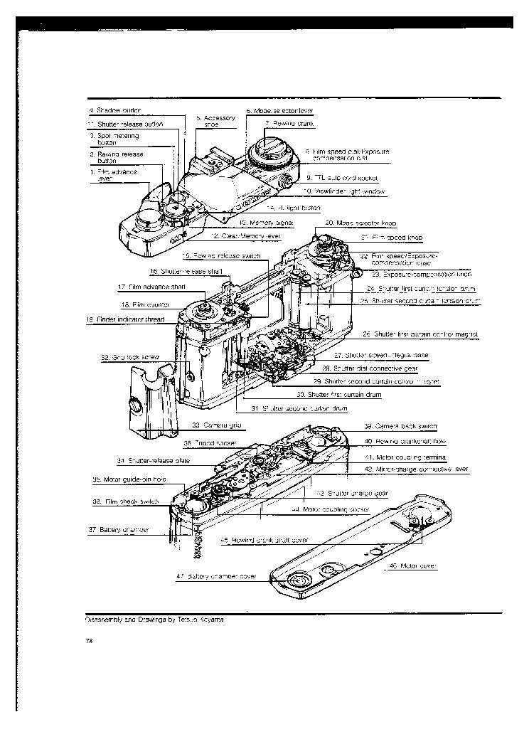 OLYMPUS OM-2S EXPLODED PARTS DIAGRAM Service Manual free
