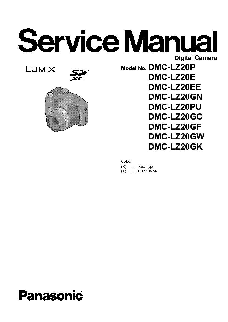PANASONIC DMC-LZ20 P E EE GN PU GC GF GW GK Service Manual