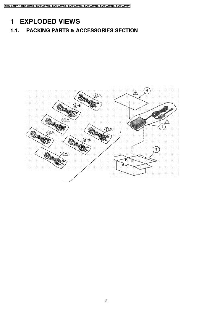 PANASONIC DMW-AC7 SM Service Manual download, schematics