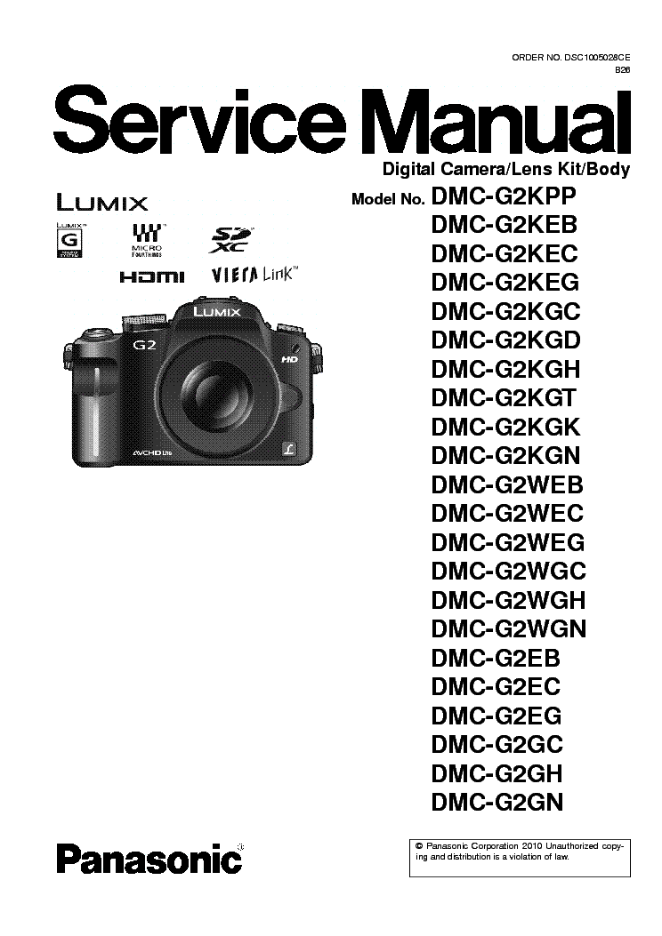 PANASONIC DMC-LS70 LS75 Service Manual download
