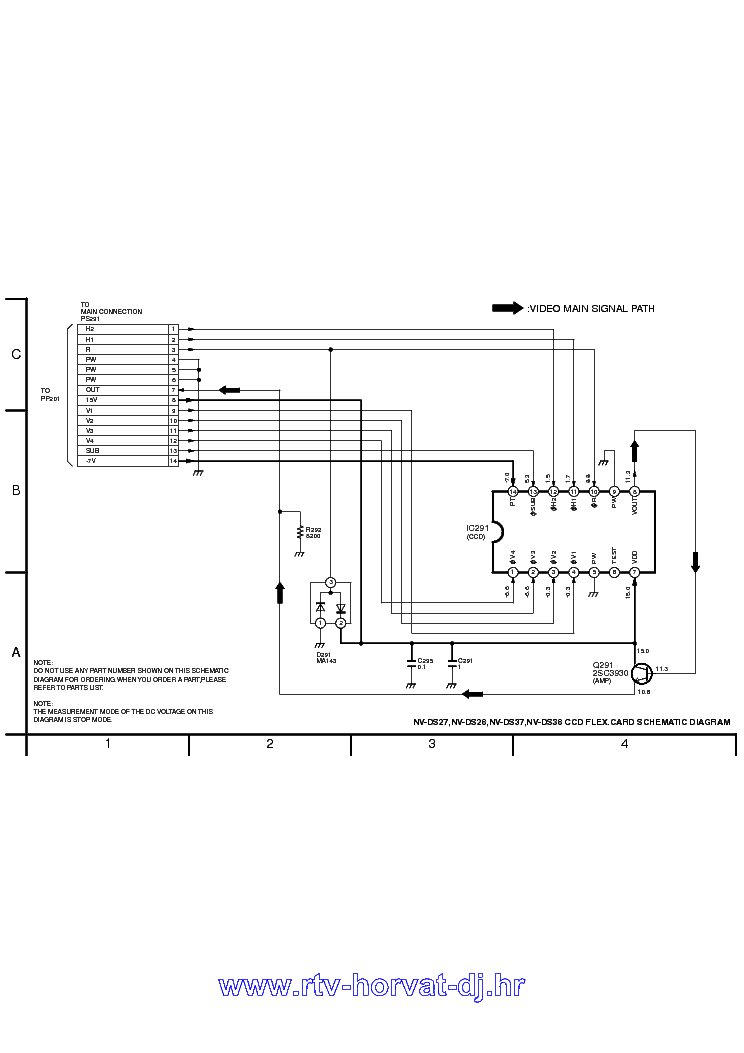PANASONIC NV-DS27 DS28 DS37 DS38 SCHEMATICS Service Manual