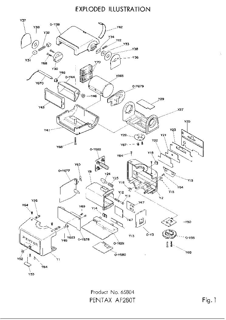 PENTAX AF280T SM Service Manual download, schematics