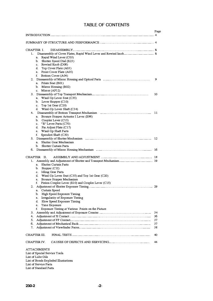 PENTAX S3 Service Manual download, schematics, eeprom