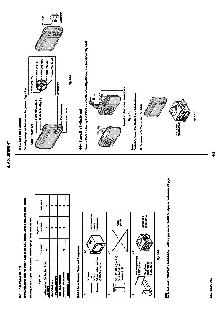 SONY DSC-S3000 VER.1.0 ADJ Service Manual download