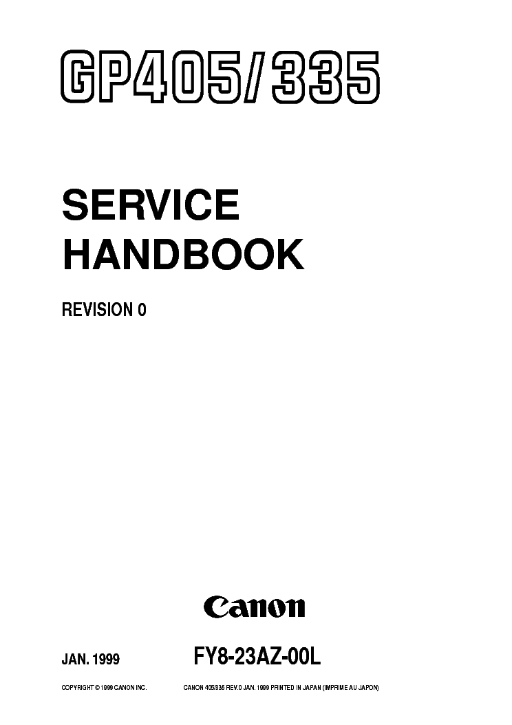 CANON FAX-L350 Service Manual free download, schematics