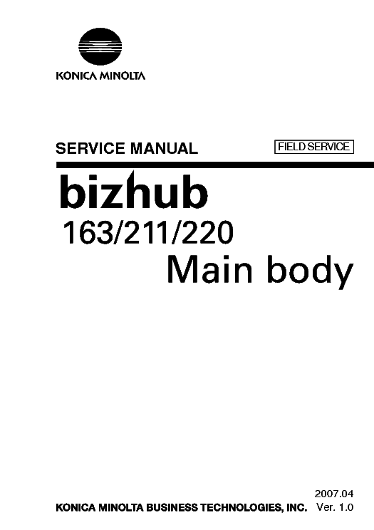 Konica minolta bizhub 164 service manual download » Konica