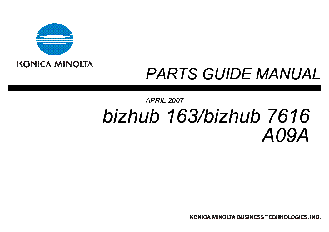 KONICA MINOLTA C220 Service Manual download, schematics