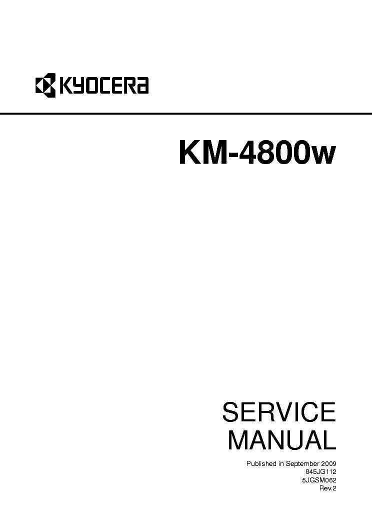 KYOCERA KM-4800W Service Manual download, schematics
