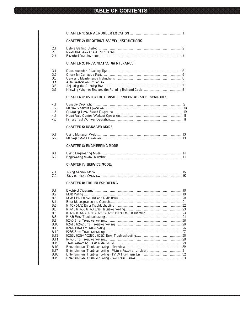 MATRIX T3X-03 TREADMILL SM Service Manual download