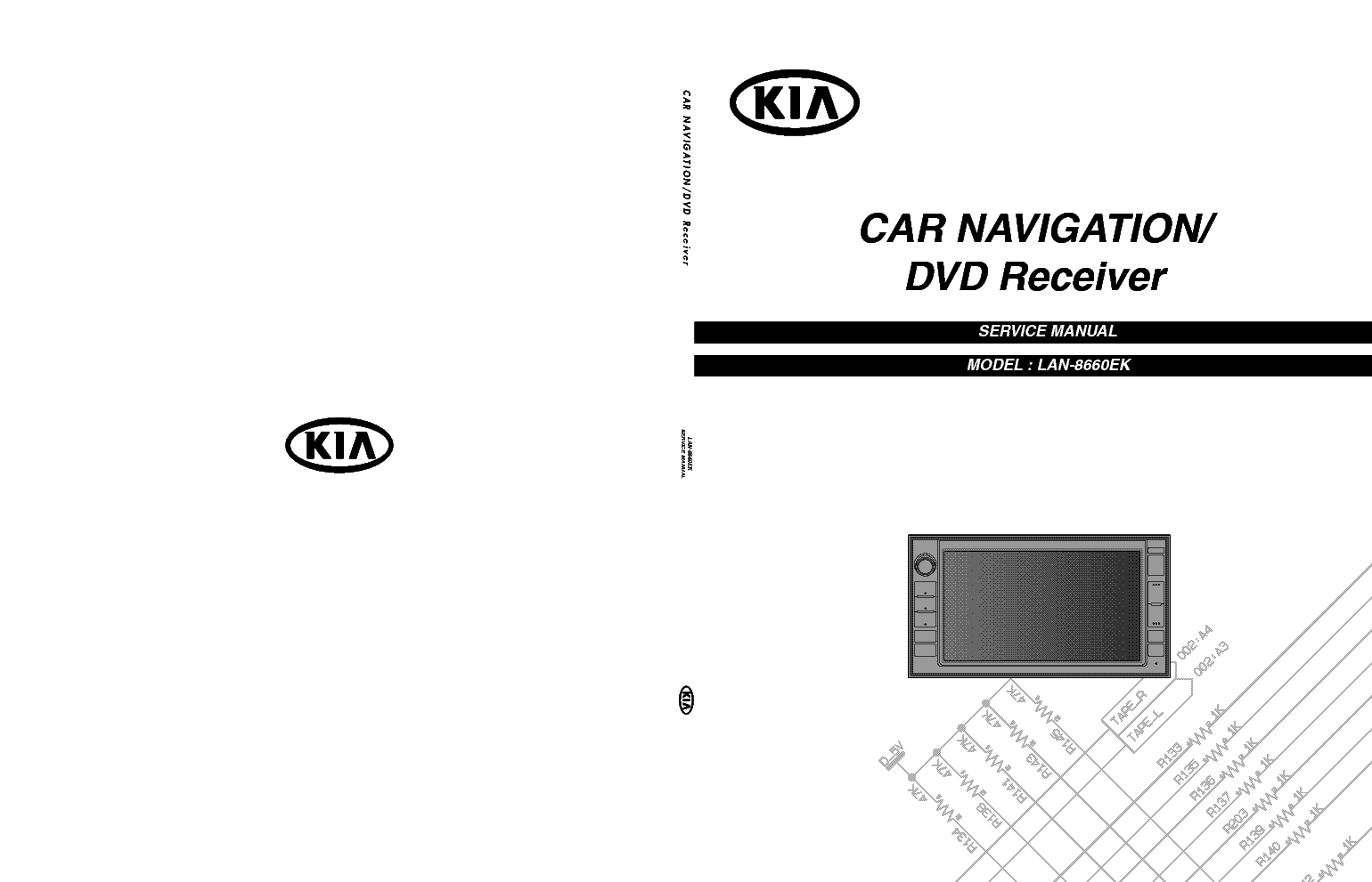 KIA LAN8660EK SERVICE Service Manual download, schematics