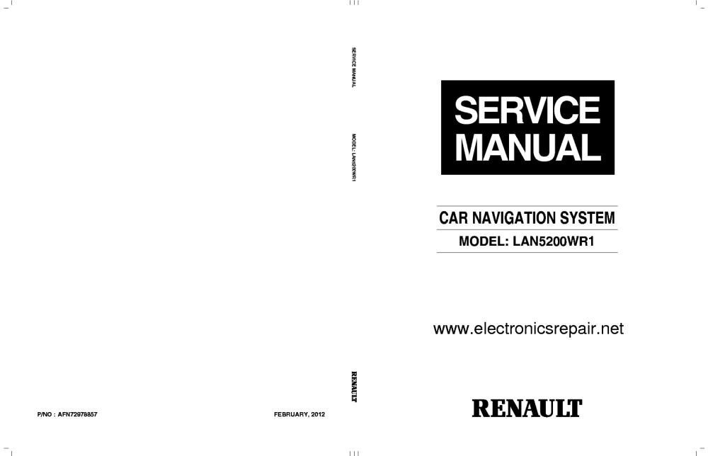 medium resolution of renault lan5200wr1 car navigation system