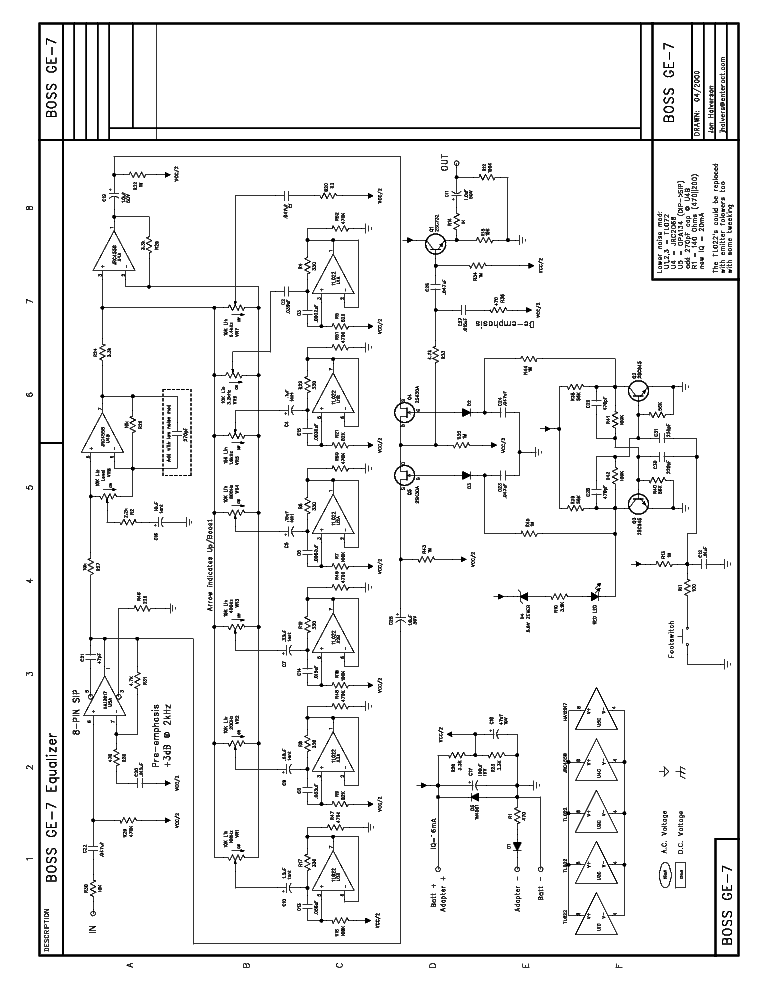 BOSS EQUIALIZED-GE7-EQ Service Manual download, schematics