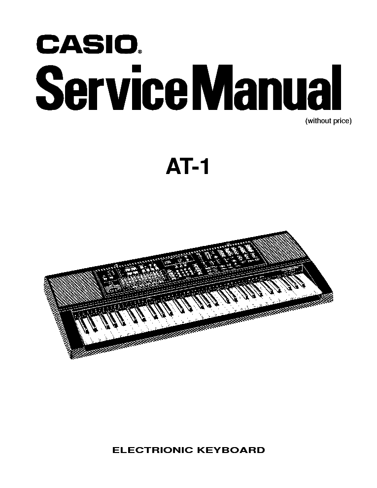 CASIO CT 670 Service Manual download, schematics, eeprom
