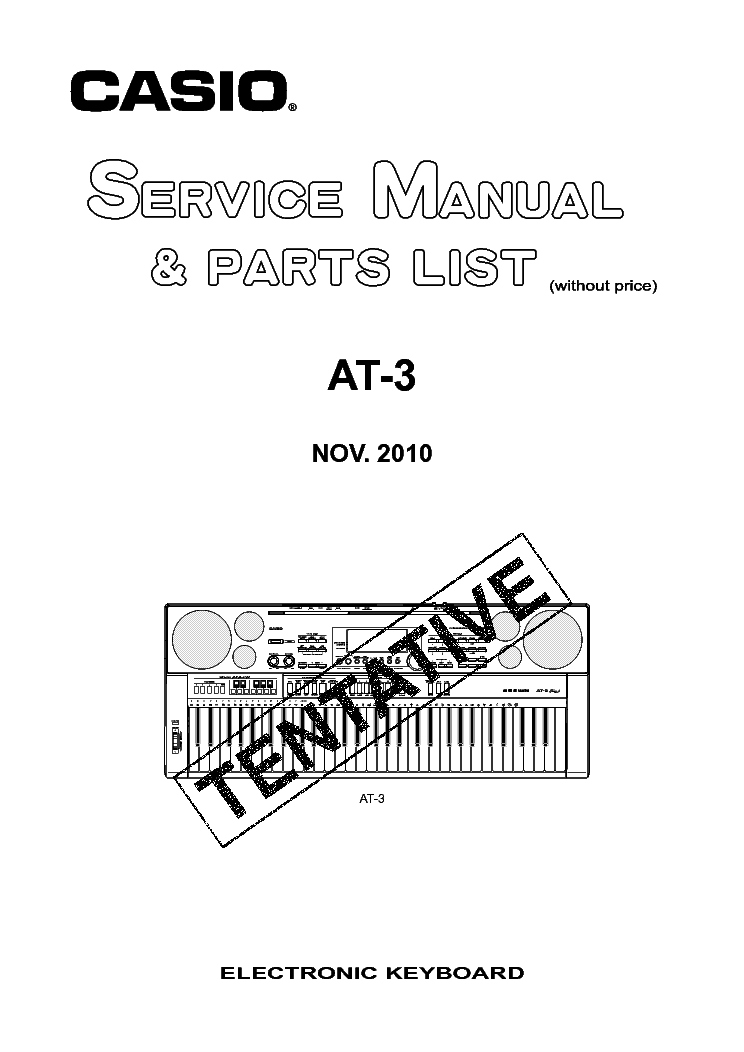 CASIO CTK-500 Service Manual download, schematics, eeprom