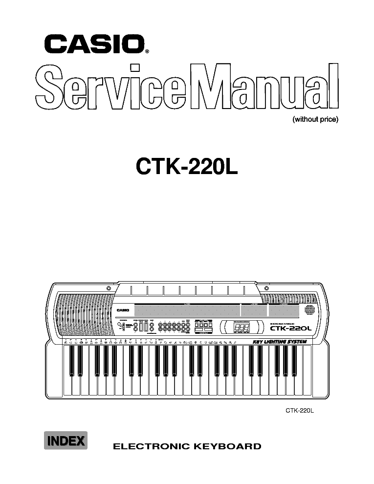 CASIO CTK-220L Service Manual download, schematics, eeprom
