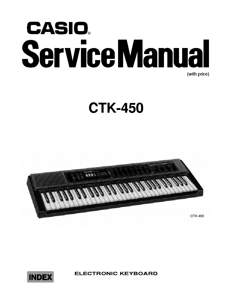 CASIO CTK 750 Service Manual download, schematics, eeprom