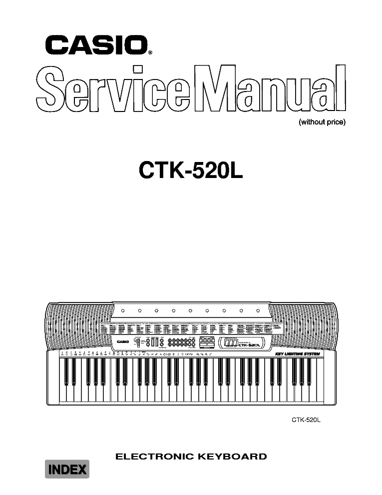CASIO CTK-520L Service Manual download, schematics, eeprom