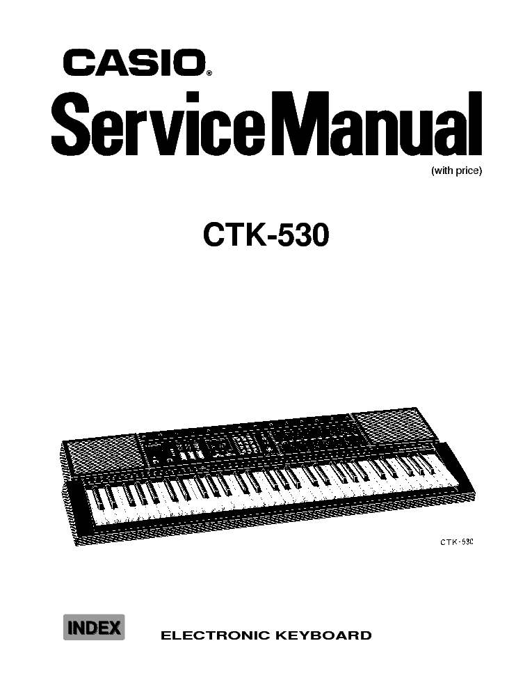 CASIO CTK-620L Service Manual free download, schematics