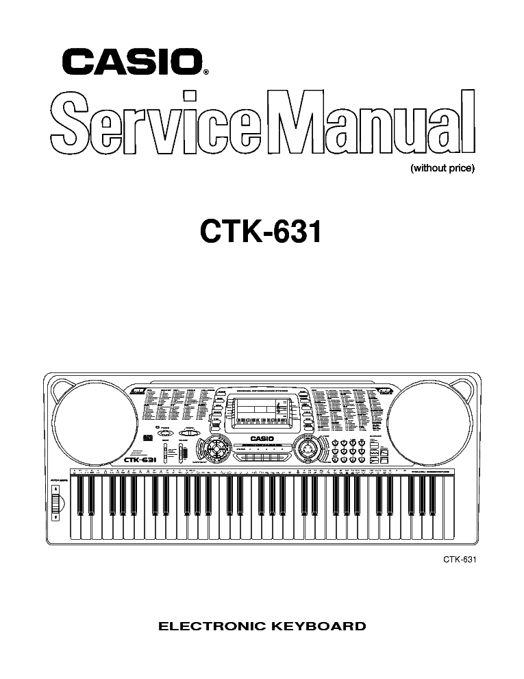 CASIO CTK631 SM Service Manual download, schematics