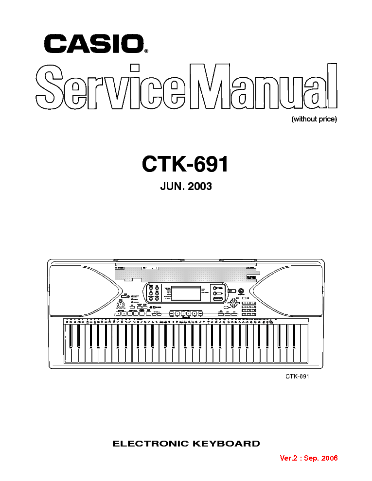 CASIO CTK691 SM Service Manual download, schematics