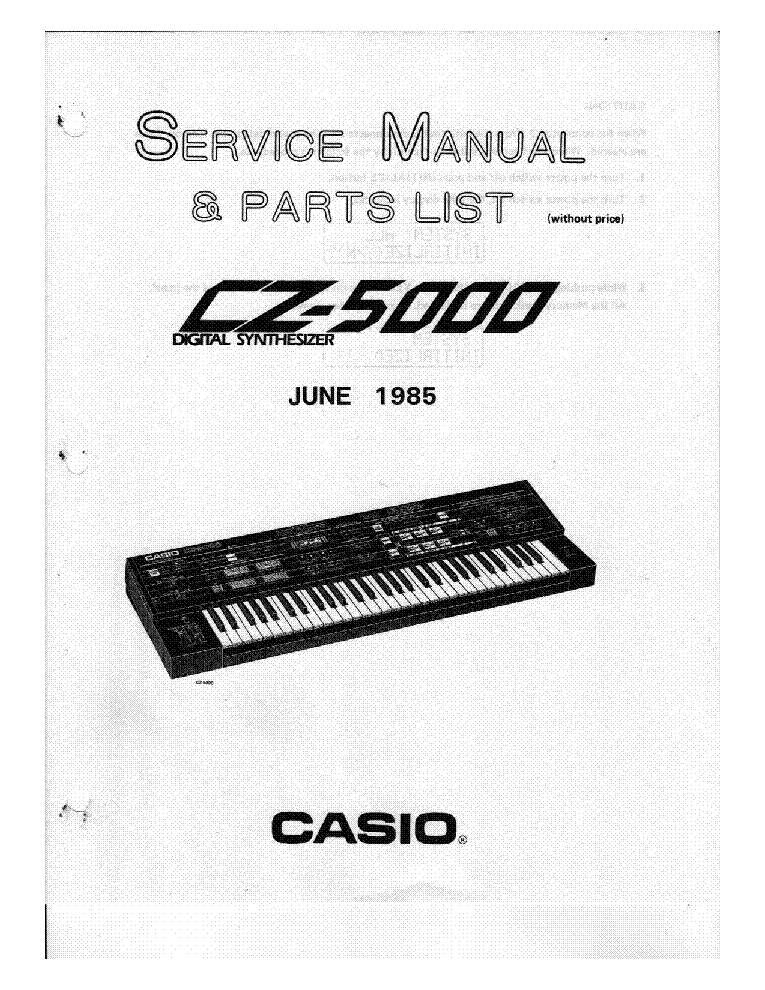 CASIO CZ5000 SM Service Manual download, schematics