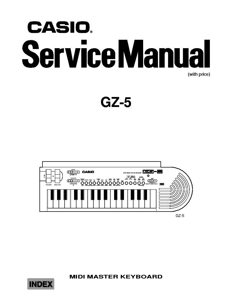 CASIO CTK-601 Service Manual download, schematics, eeprom