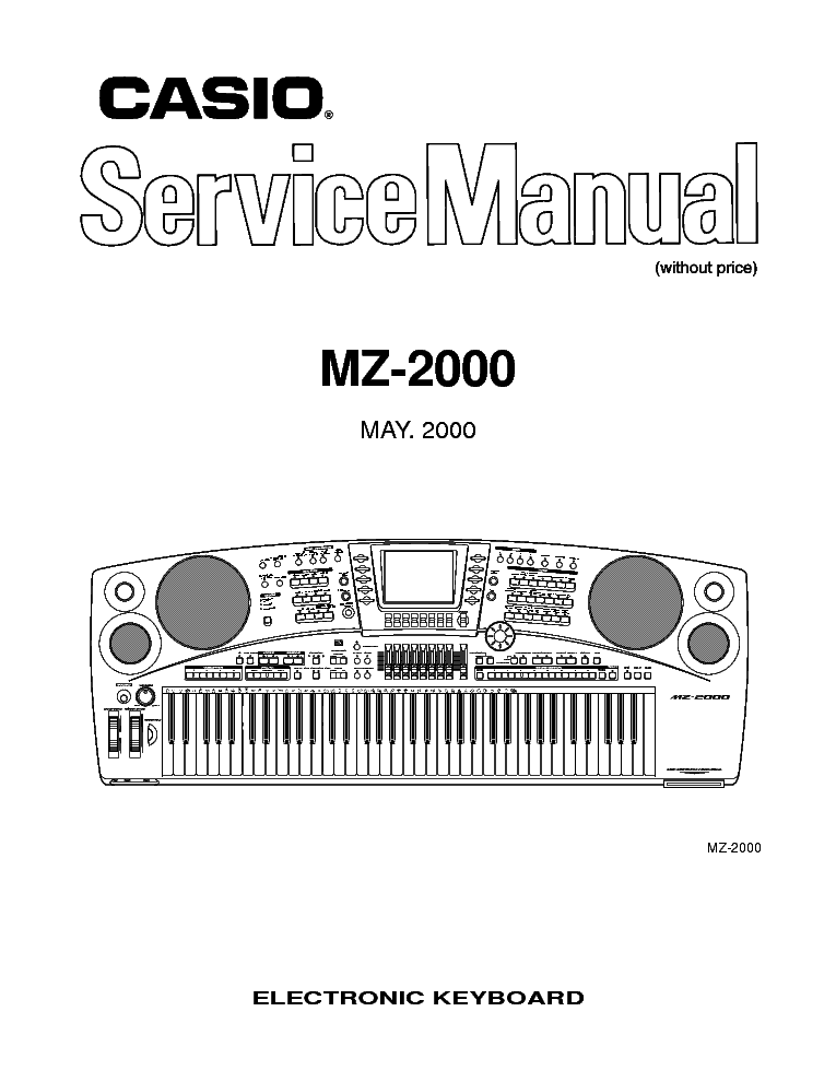 CASIO MZ-2000 Service Manual download, schematics, eeprom