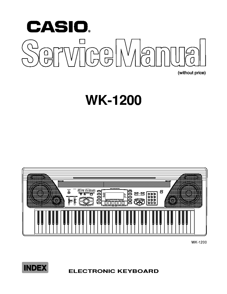 CASIO WK-1200 Service Manual download, schematics, eeprom