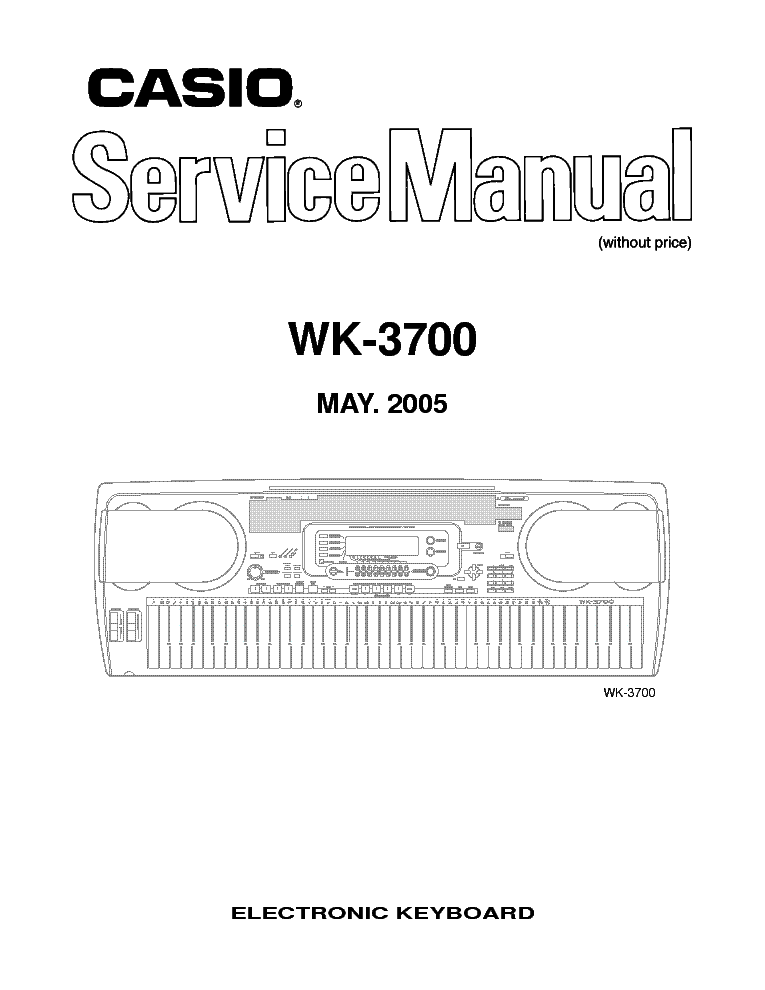 CASIO CTK-481 Service Manual download, schematics, eeprom