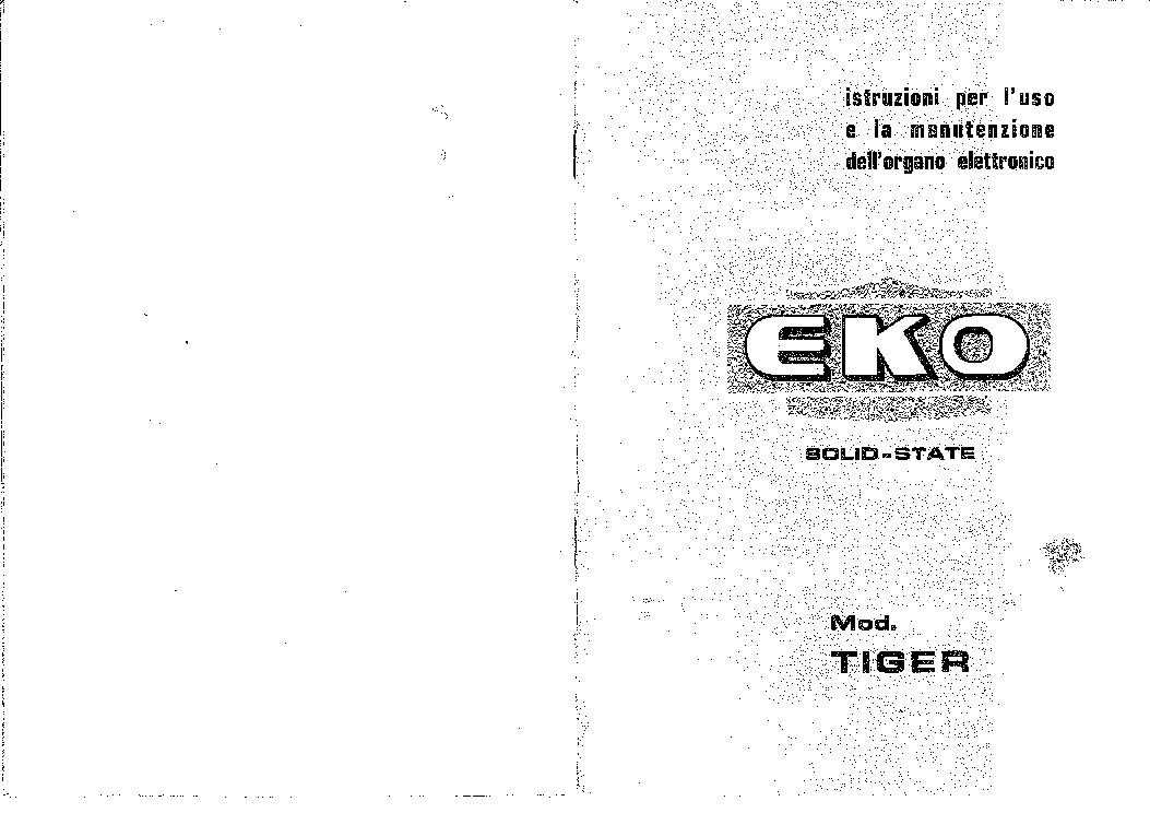EKO TIGER ORGAN SM Service Manual download, schematics