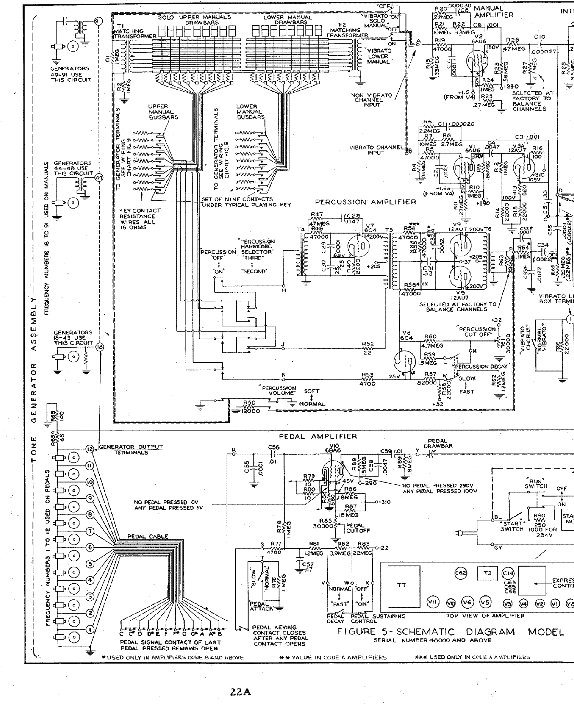 HAMMOND M-3 SCH Service Manual download, schematics