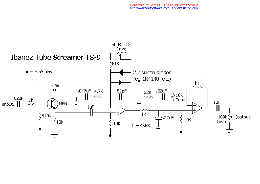 Ibanez Ts 9 Tube Screamer Sch Service Manual Download