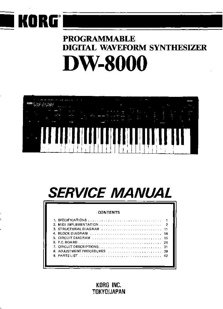 KORG TRINITY PLUS PRO SM Service Manual download