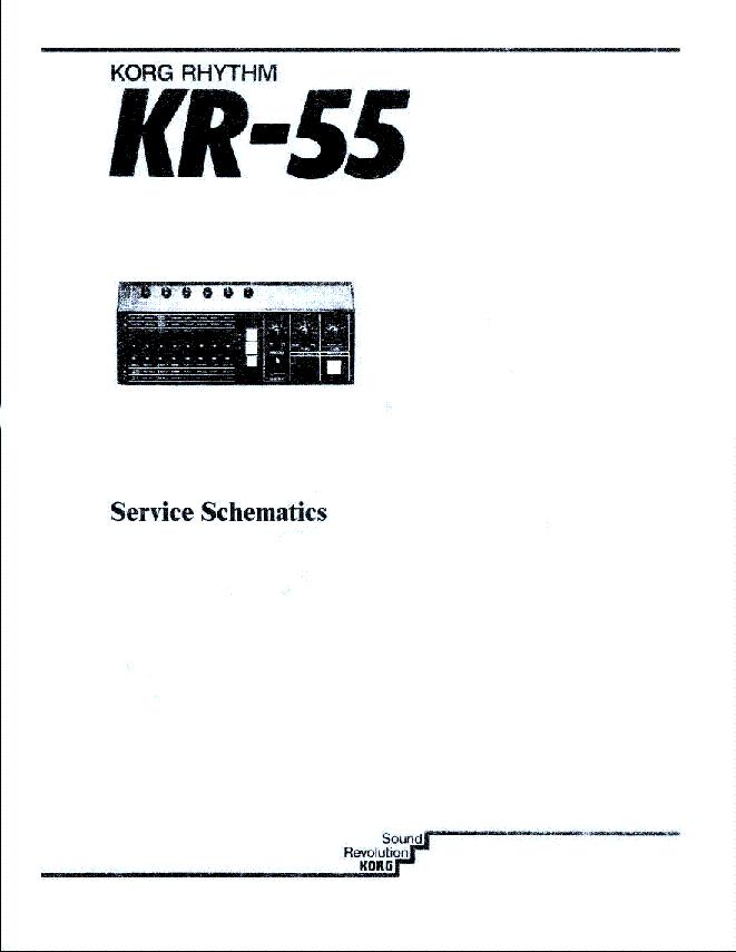 KORG KR-55 SCH Service Manual download, schematics, eeprom
